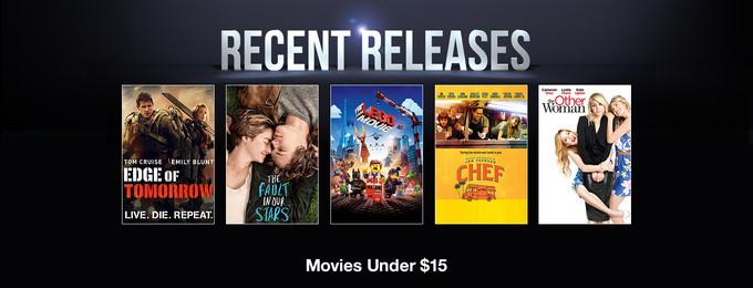 Recent Releases: Movies Under $15