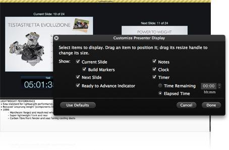 Personnaliser votre écran d'intervenant