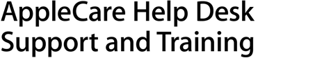 AppleCare Help Desk Support and Training