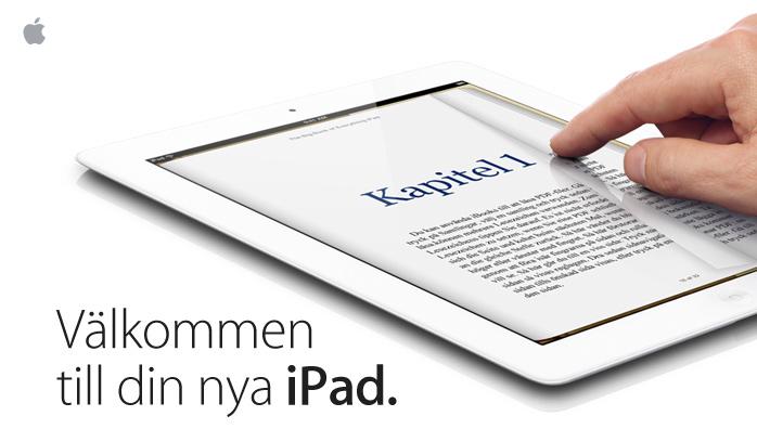 Välkommen till din nya iPad.