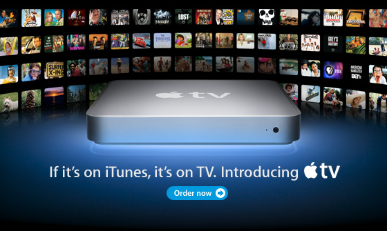 If it's on iTunes, it's on TV. Introducing Apple TV.