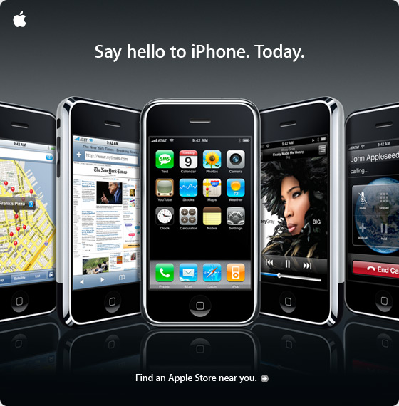 Say hello to iPhone. Today.