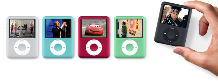 Apple iPod nano with screen