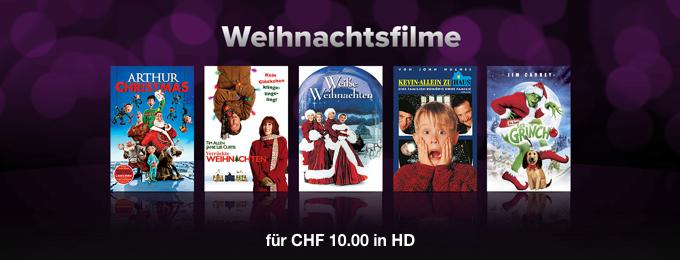 Weihnachtsfilme: CHF 10.00 in HD