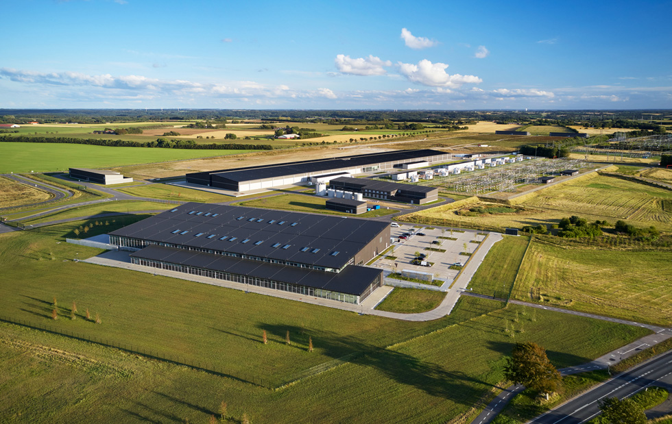 Aerial view of the Viborg data center.