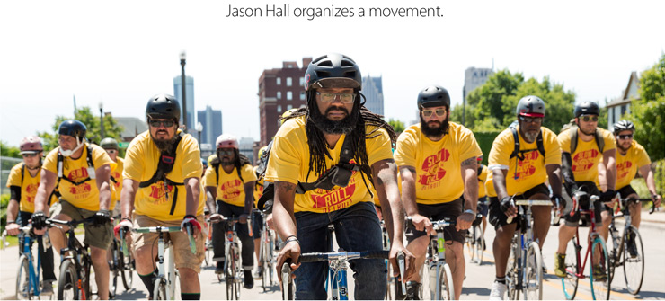 Jason Hall organizes a movement.