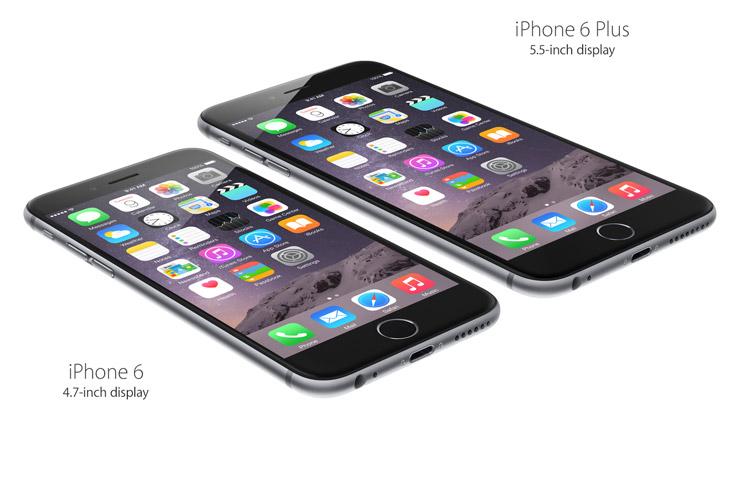 iPhone 6 Plus: 5.5-inch display. iPhone 6: 4.7-inch display.