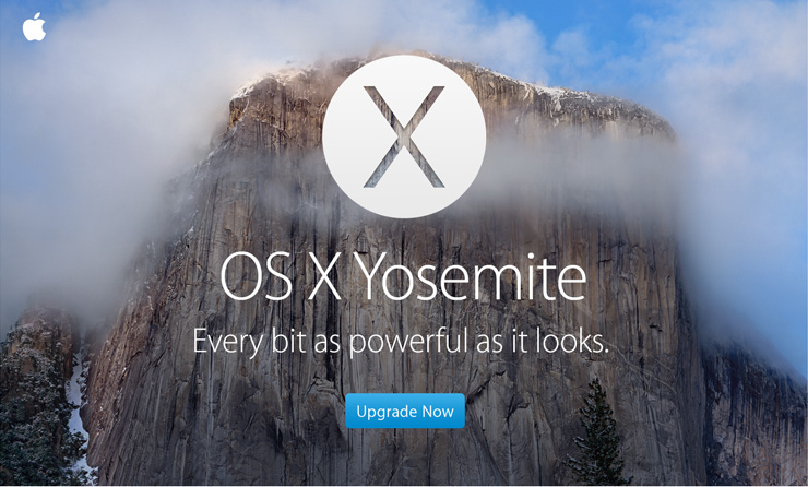 OS X Yosemite. Every bit as powerful as it looks. Upgrade Now