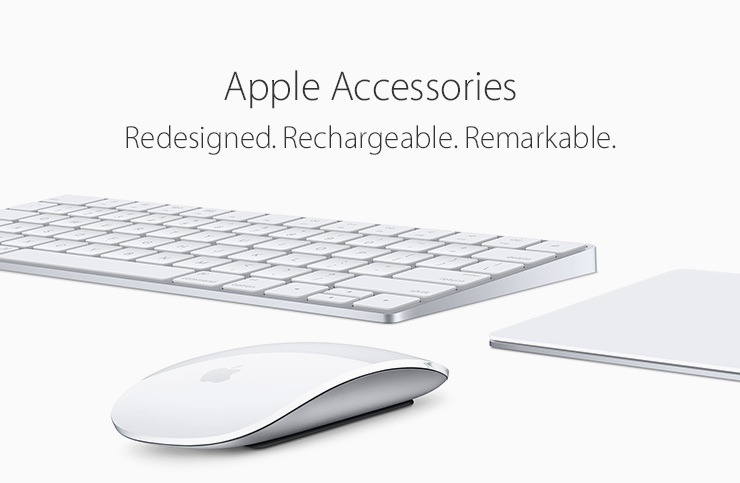 Apple Accessories. Redesigned. Rechargeable. Remarkable.