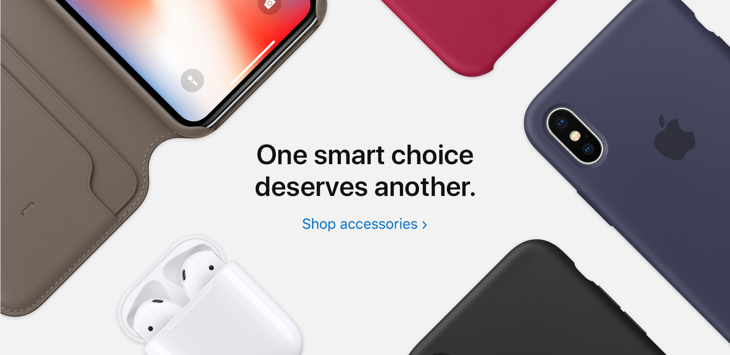 One smart choice deserves another. Shop Accessories.