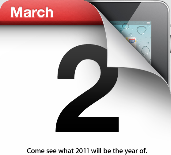 March 2. Come see what 2011 will be the year of.