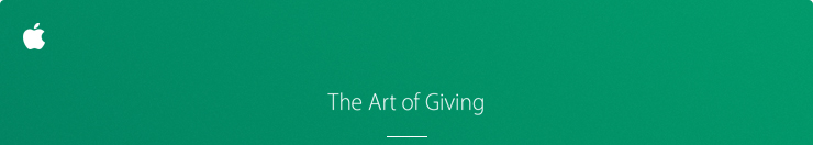 The Art of Giving.