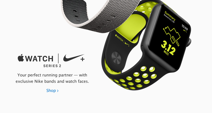 Apple Watch Series 2 Nike+. Your perfect running partner - with exclusive Nike bands and watch faces.