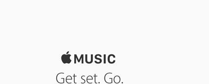 Apple Music. Get set. Go.