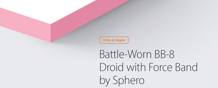 Only at Apple Battle-Worn BB-8 Droid with Force Band by Sphero