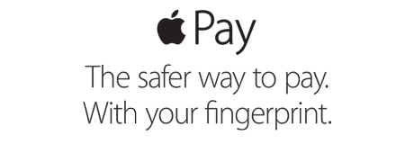 Apple Pay. The safer way to pay. With your fingerprint.