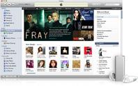 Captura de pantalla de iPod shuffle e iTunes