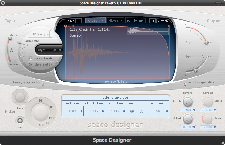 Space Designer Reverbs