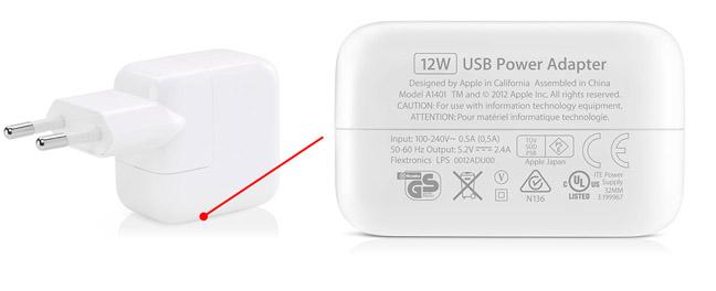 Apple Iphone Power Adapter Specs