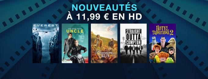 Nouveautés à 11,99 € en HD