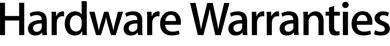 Hardware Warranties