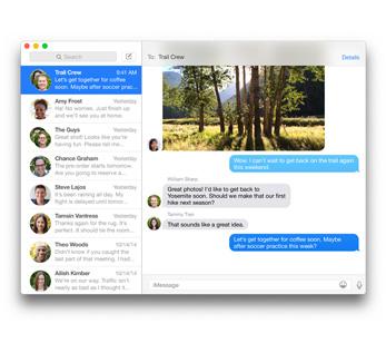 Captura de pantalla mostrando una conversación de iMessage entre amigos que discuten los planes para el fin de semana.