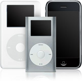 iPod Classic, iPod nano, and iPhone