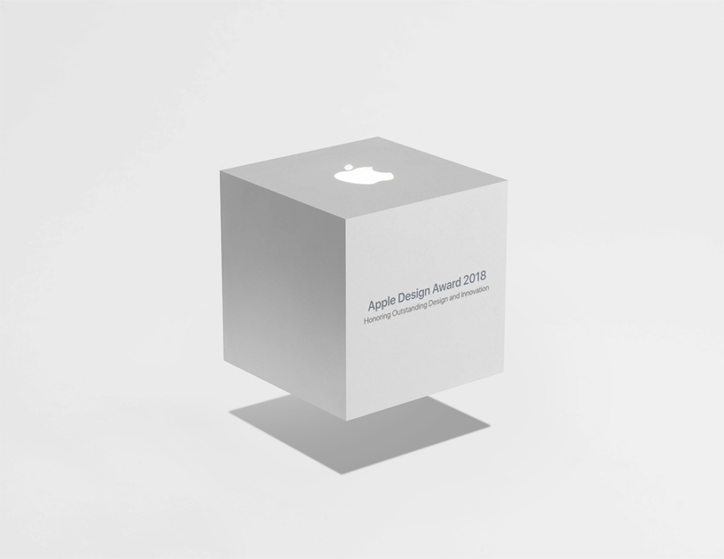 Image of the Cube Award logo for the Apple Design Awards