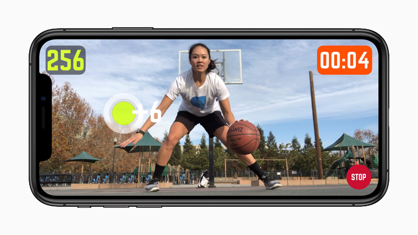 iPhone showing HomeCourt AR experience.