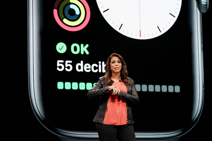 Dr. Sumbul Desai on stage at WWDC 2019.