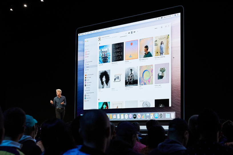 Craig Federighi introduces macOS Catalina on stage at WWDC 2019.