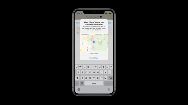 User location privacy settings in iOS 14.