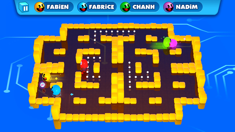 "Screenshot of Bandai Namco's ""PAC-MAN PARTY ROYALE."""