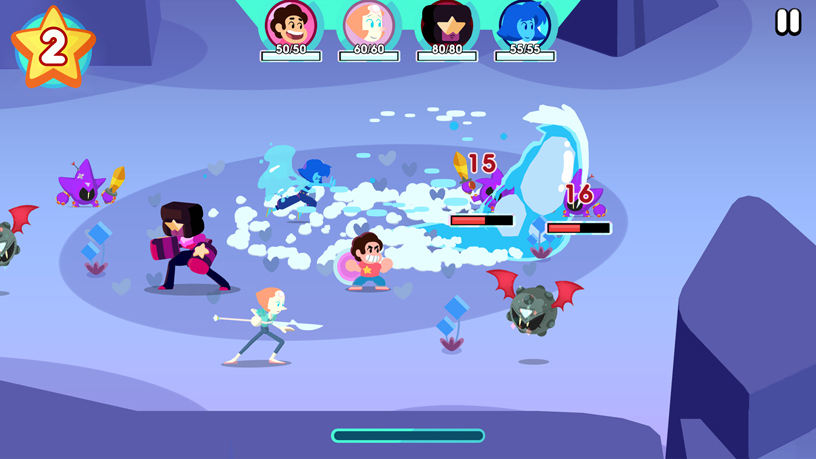 """Steven Universe: Unleash the Light"" from Cartoon Network on Apple Arcade."