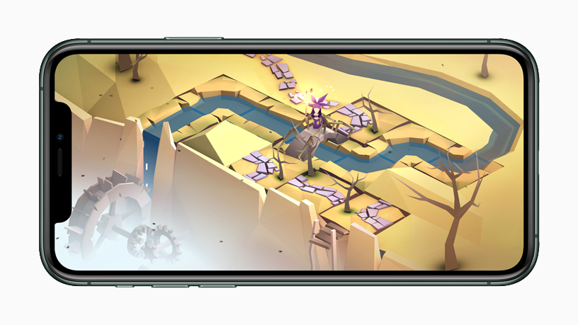 "Gameplay from ""The Enchanted World"" displayed on iPhone 11 Pro."