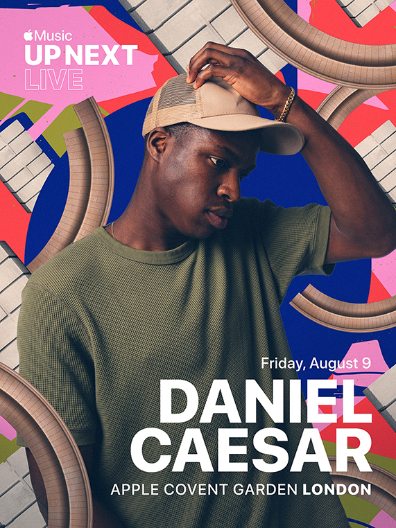 Apple Music Up Next Live featuring Daniel Caesar at Apple Covent Garden.