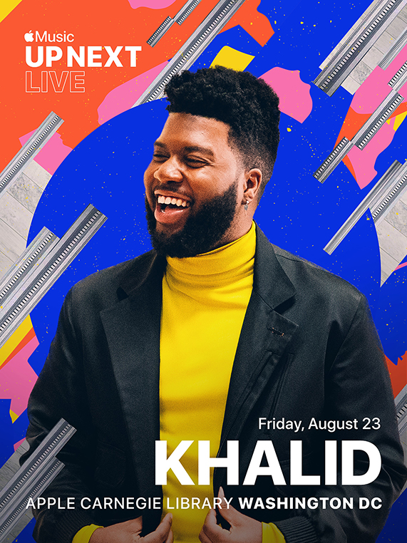 Apple Music Up Next Live featuring Khalid at Apple Carnegie Library.