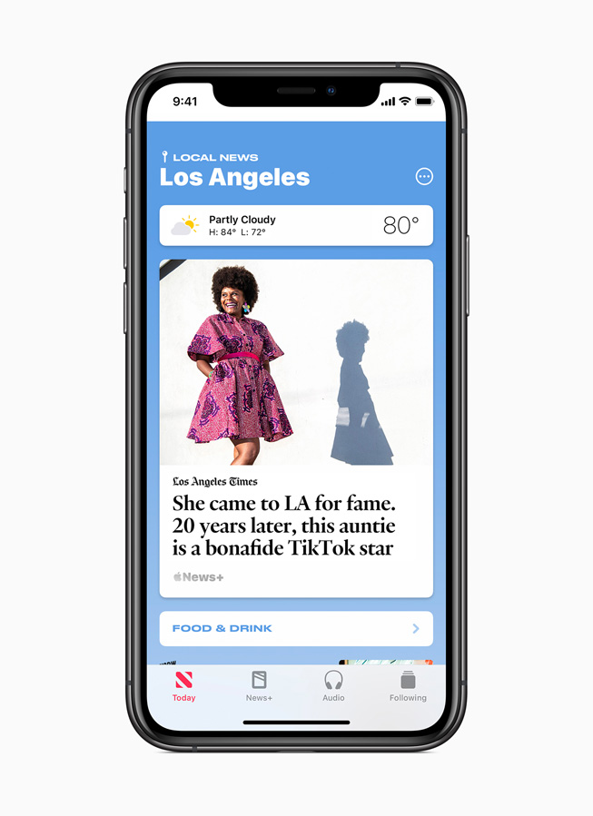 Curated local news for Los Angeles is displayed on iPhone 11 Pro.
