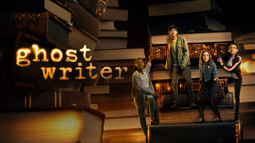 "Apple TV+'s title screen for ""Ghostwriter."""