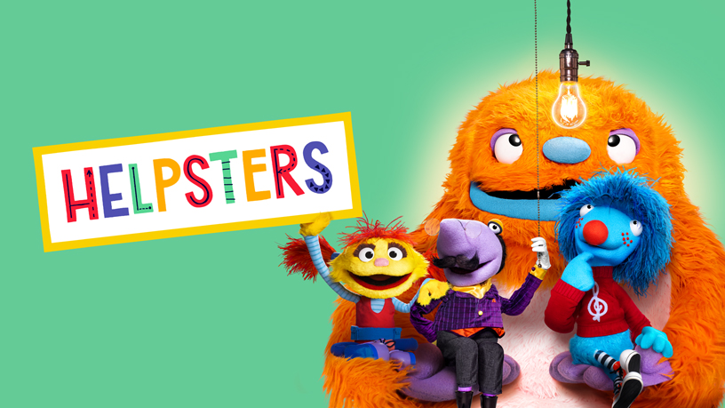 """Helpsters"" title screen."