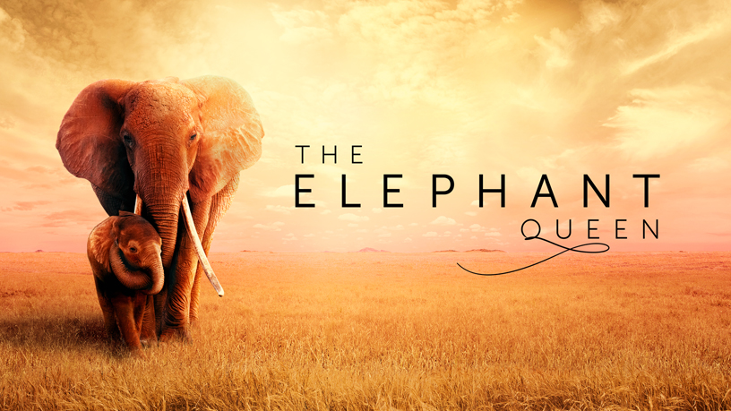 """The Elephant Queen"" Apple TV+ title screen."