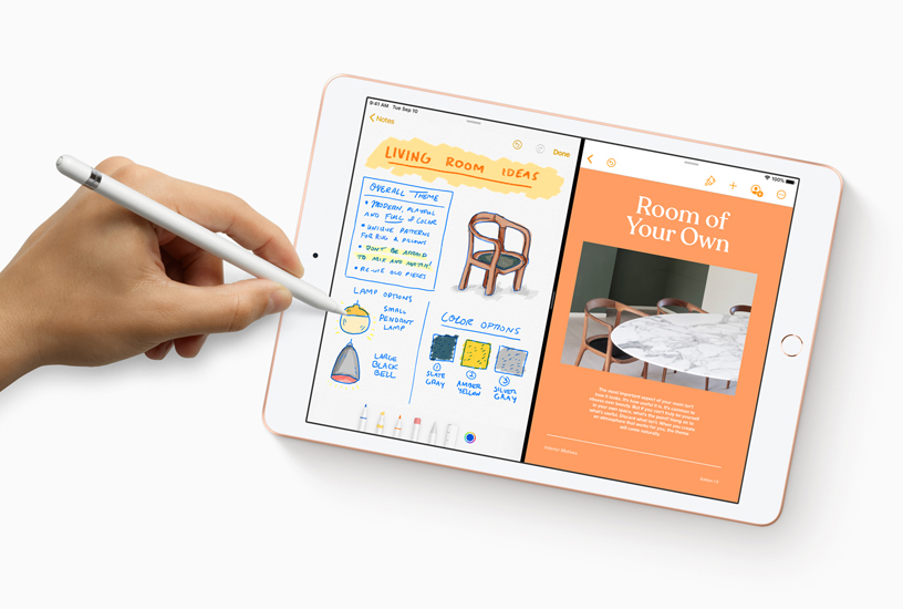 The new Notes app with Apple Pencil integration on iPad.