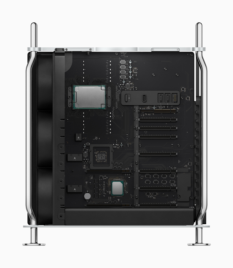 Mac Pro features powerful Xeon processors.