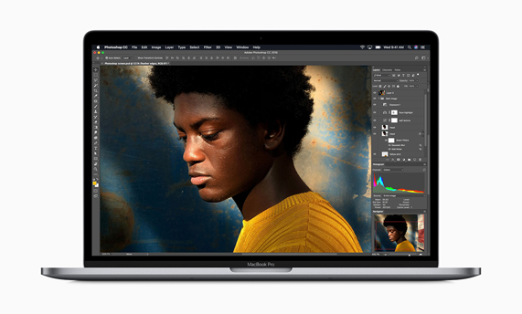 MacBook Pro ejecutando Photoshop.