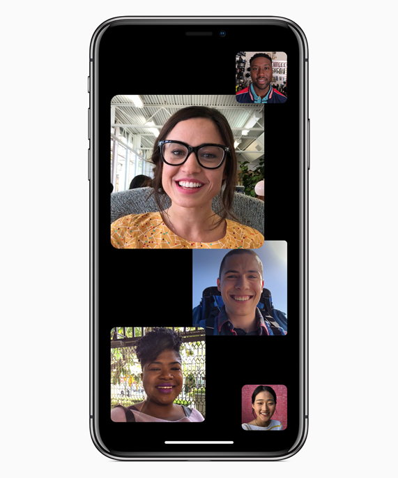 iPhone with several Group FaceTime chats open on screen