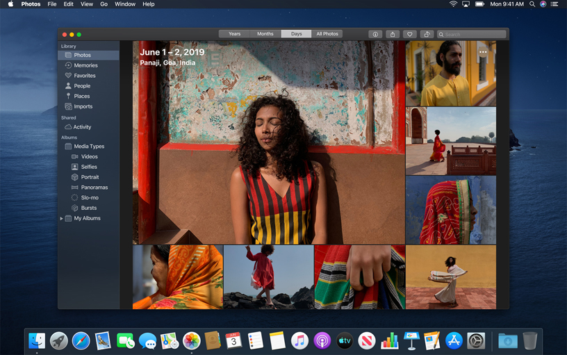 Photos app on macOS Catalina.