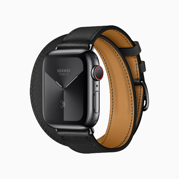The new all-black band on Apple Watch Hermès.