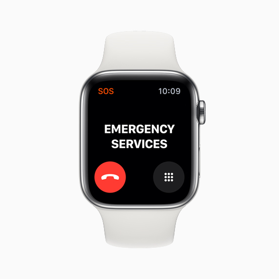The new Emergency Calling feature displayed on Apple Watch Series 5.