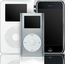 iPod Classic, Shuffle, Touch