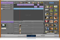 GarageBand screen showing audio tracks used for audio podcasts